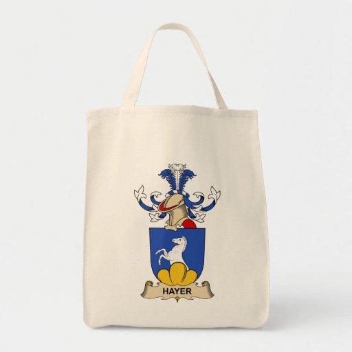 Escudo de la familia de Hayer Bolsa Tela Para La Compra