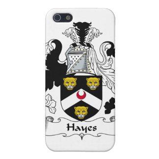 Escudo de la familia de Hayes iPhone 5 Cárcasas