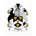 Escudo de la familia de Hayes Postal