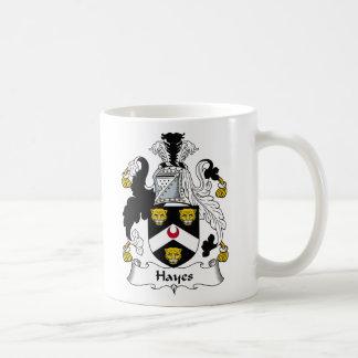 Escudo de la familia de Hayes Taza De Café