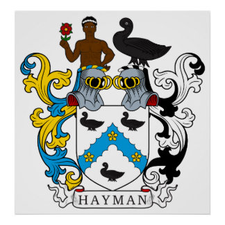 Escudo de la familia de Hayman Póster