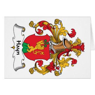 Escudo de la familia de Hayn Tarjeta De Felicitación