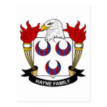 Escudo de la familia de Hayne Postal