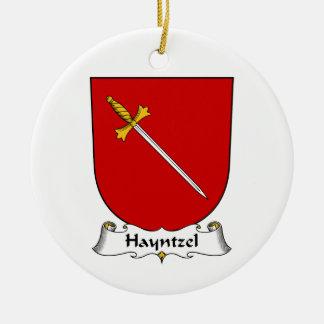 Escudo de la familia de Hayntzel Ornamentos De Navidad