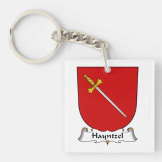 Escudo de la familia de Hayntzel Llavero Cuadrado Acrílico A Una Cara