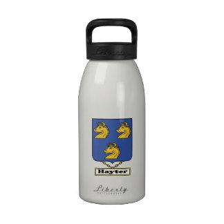 Escudo de la familia de Hayter Botellas De Agua Reutilizables