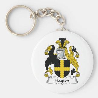Escudo de la familia de Hayton Llavero Redondo Tipo Pin