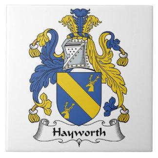 Escudo de la familia de Hayworth Teja Ceramica