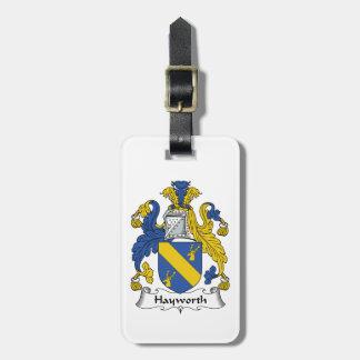 Escudo de la familia de Hayworth Etiqueta Para Maleta