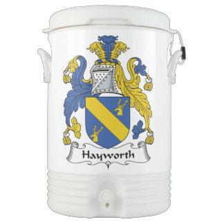 Escudo de la familia de Hayworth Enfriador De Bebida Igloo