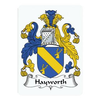 Escudo de la familia de Hayworth Invitación 12,7 X 17,8 Cm