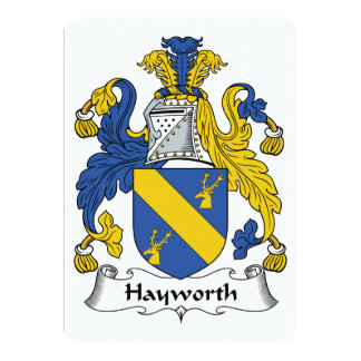 """Escudo de la familia de Hayworth Invitación 5"""" X 7"""""""