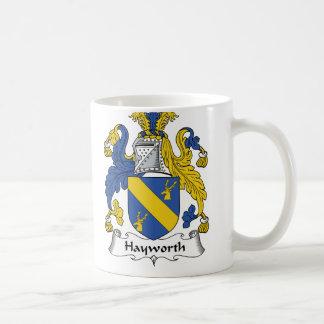 Escudo de la familia de Hayworth Taza De Café