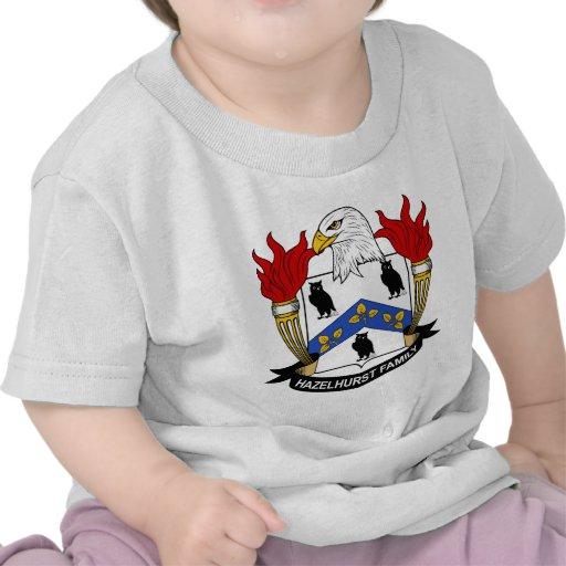 Escudo de la familia de Hazelhurst Camisetas