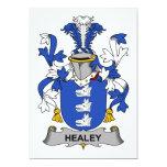 Escudo de la familia de Healey Invitación 12,7 X 17,8 Cm