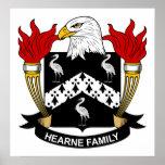 Escudo de la familia de Hearne Impresiones