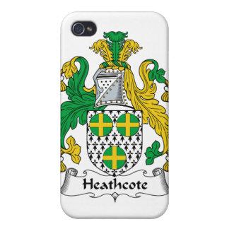 Escudo de la familia de Heathcote iPhone 4 Cárcasas