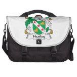 Escudo de la familia de Heatley Bolsas Para Ordenador