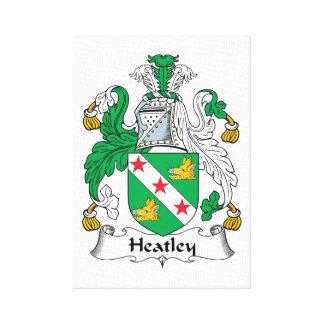 Escudo de la familia de Heatley Lienzo Envuelto Para Galerias