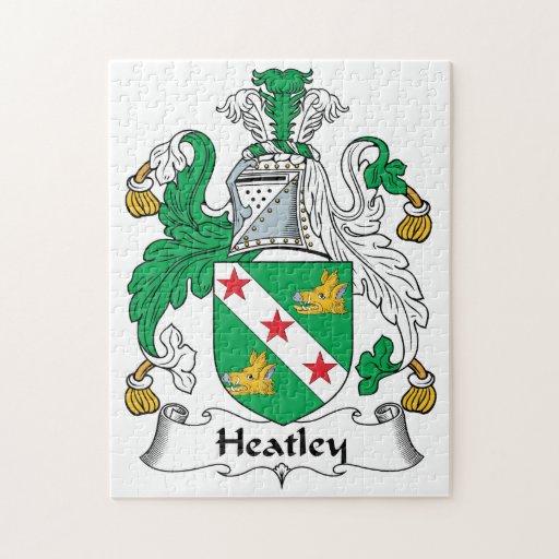 Escudo de la familia de Heatley Puzzle Con Fotos