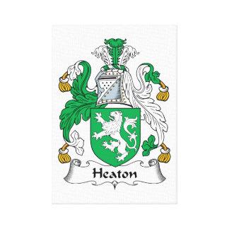 Escudo de la familia de Heaton Impresión De Lienzo