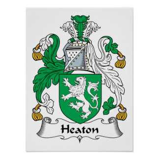 Escudo de la familia de Heaton Póster