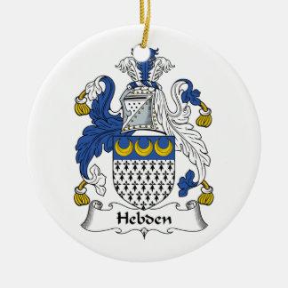 Escudo de la familia de Hebden Adorno Redondo De Cerámica