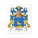 Escudo de la familia de Hebert Lienzo Envuelto Para Galerías