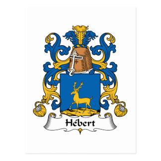 Escudo de la familia de Hebert Postales