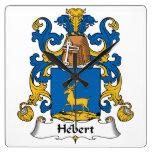 Escudo de la familia de Hebert Reloj De Pared
