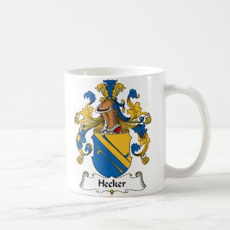 Escudo de la familia de Hecker Taza De Café