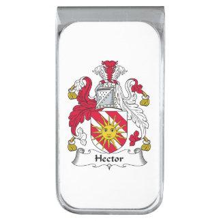 Escudo de la familia de Hector Clip Para Billetes Plateado