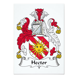 """Escudo de la familia de Hector Invitación 5"""" X 7"""""""