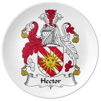 Escudo de la familia de Hector Platos De Cerámica