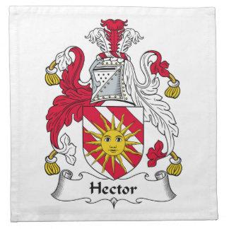 Escudo de la familia de Hector Servilletas Imprimidas