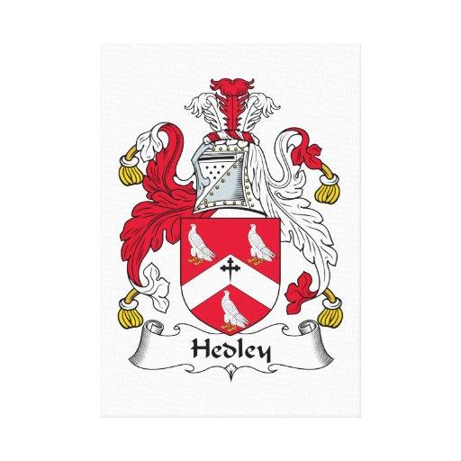Escudo de la familia de Hedley Lienzo Envuelto Para Galerias