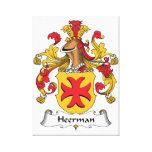 Escudo de la familia de Heerman Impresión En Lona