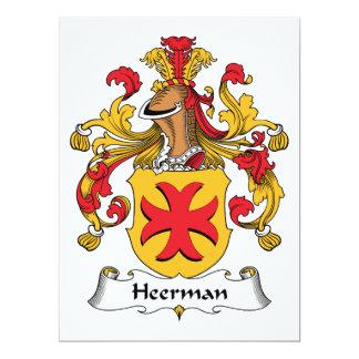 """Escudo de la familia de Heerman Invitación 6.5"""" X 8.75"""""""