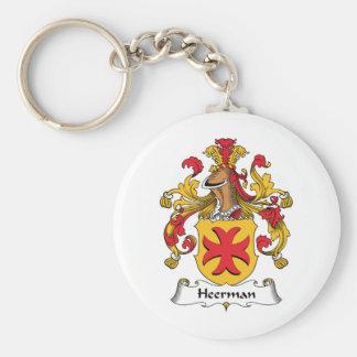 Escudo de la familia de Heerman Llavero Redondo Tipo Pin