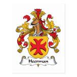 Escudo de la familia de Heerman Postal