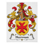 Escudo de la familia de Heerman Poster