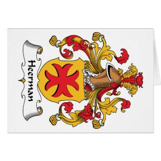 Escudo de la familia de Heerman Tarjeta De Felicitación