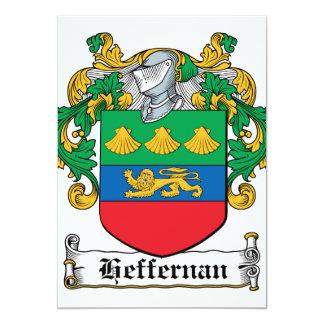 Escudo de la familia de Heffernan Invitación 12,7 X 17,8 Cm