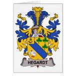Escudo de la familia de Hegardt Felicitacion