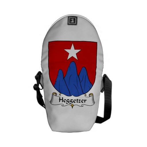 Escudo de la familia de Heggetzer Bolsa De Mensajeria