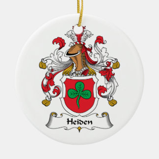 Escudo de la familia de Heiden Adorno Redondo De Cerámica