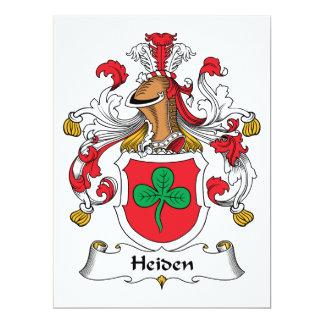 """Escudo de la familia de Heiden Invitación 6.5"""" X 8.75"""""""
