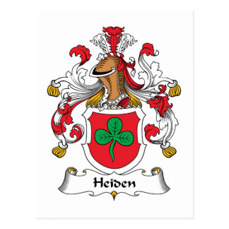 Escudo de la familia de Heiden Tarjetas Postales