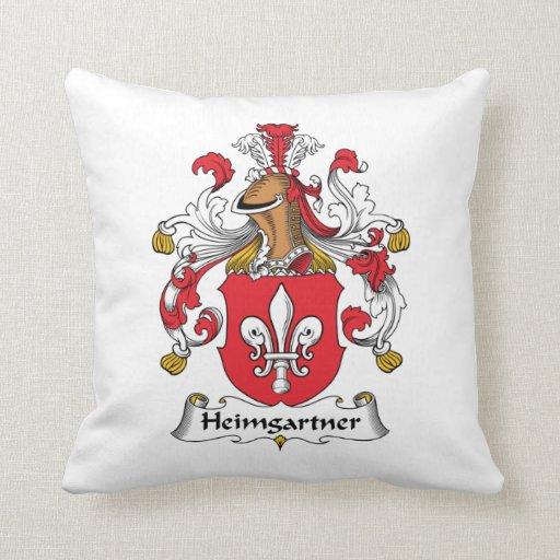Escudo de la familia de Heimgartner Almohada