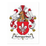 Escudo de la familia de Heimgartner Postal